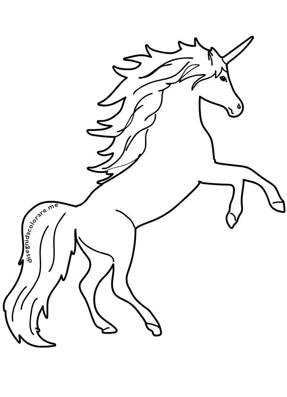 Disegni Da Colorare On Twitter Unicorno Disegni Per Bambini Da