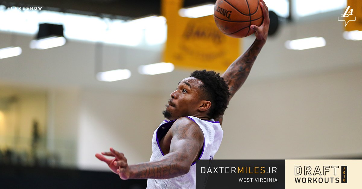 Working out for the #LakeShow today, @WVUhoops' Daxter Miles Jr.