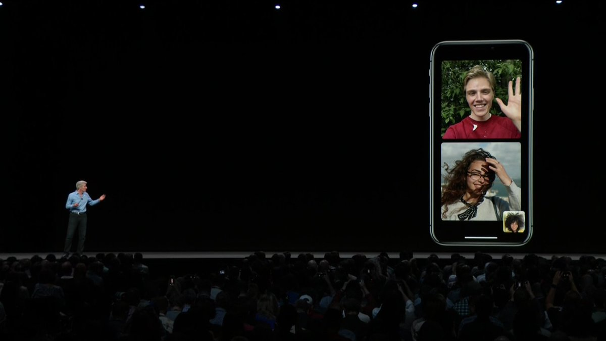 BREAKING: Apple announces group FaceTime, which will allow up to 32 people in 1 live video call  https://t.co/v0ZR9dC60l