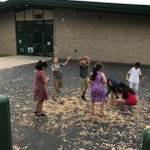 What's more fun than a nature walk around the school building on a beautiful day with tons and tons of maple seed helicopters?!?! 🤗 #swd123