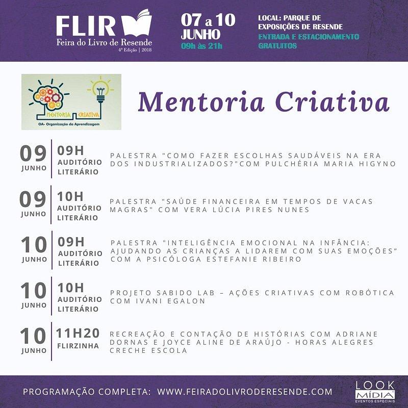 #VEMPRAFLIR FEIRA DO LIVRO RESENDE RJ #MENTORIACRIATIVA pic.twitter.com/Vk1BsPXCET