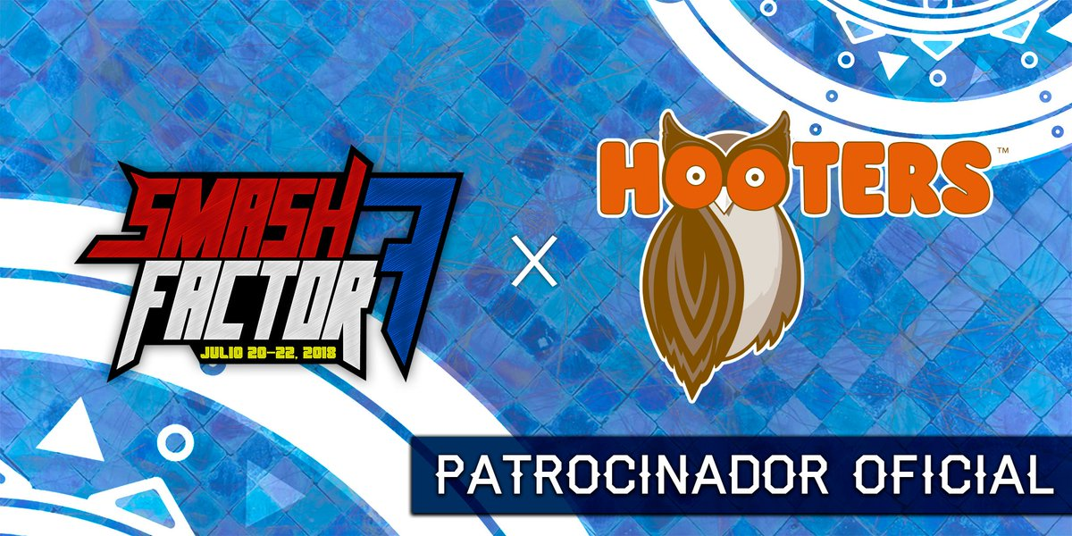 We are very happy to announce that Smash Factor 7 is partnered with @HootersdeMexico!   Hooters girls with the help of our staff will be hosting some tournaments like amateur brackets and other side events during the weekend!  The pre-factor party will be held at Hooters Puebla.