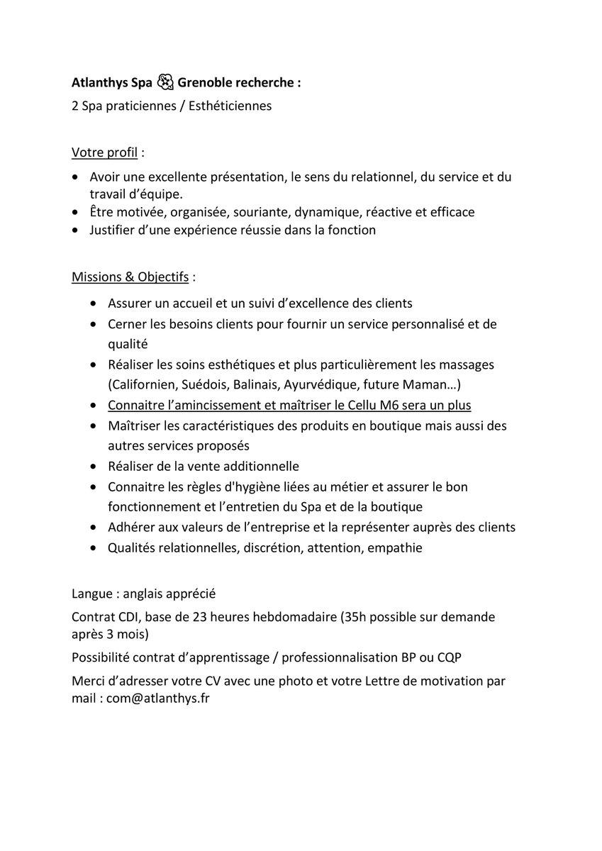 Atlanthys Spa On Twitter Atlanthys Spa Grenoble Recherche 2