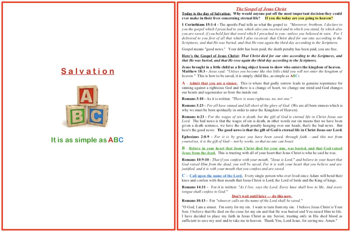 photograph relating to Abc of Salvation Printable referred to as J.D. Farag upon Twitter: \