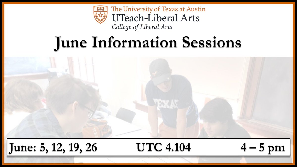 UTeach-Liberal Arts on Twitter: \