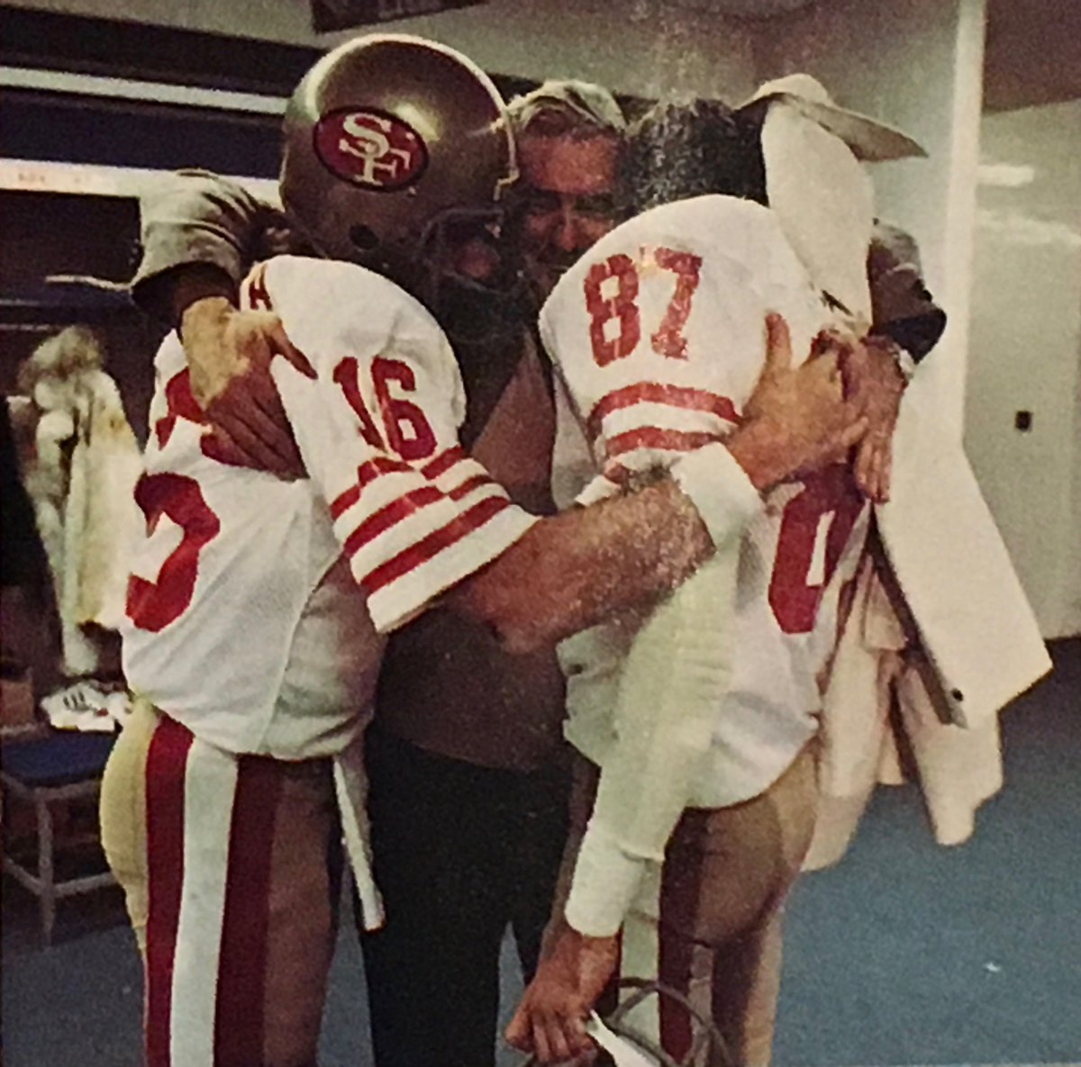 Ken Gelman On Twitter A Winning Moment Dwight Clark Embraces Joe Montana And Joe S Dad In The Silverdome Locker Room After The 49ers First Super Bowl Championship Victory In Super Bowl Xvi See more of ken & joes honda kawi ktm on facebook. dwight clark embraces joe montana and