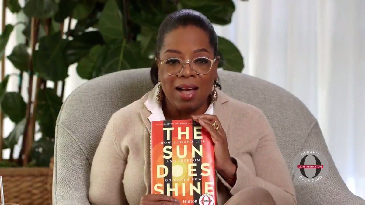 Book Club friends, I'm SO passionate about my next pick. The Sun Does Shine by Anthony Ray Hinton. This unimaginable memoir is Anthony's story of being falsely convicted and released from death row after 30 YEARS! Hope you'll get a copy today. amazon.com/oprahsbookclub