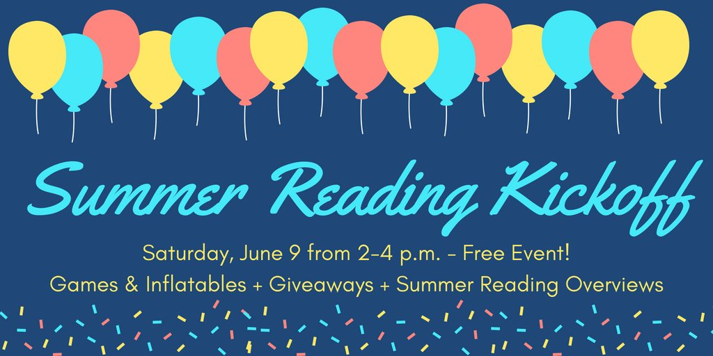 Join us Saturday from 2-4 p.m. to kick off our 2018 Summer Reading Program! Free event! #summerreading #dtws #kidlit