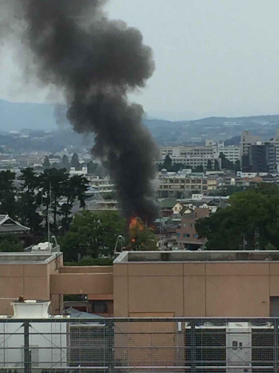 前橋市大手町の火事現場の写真画像