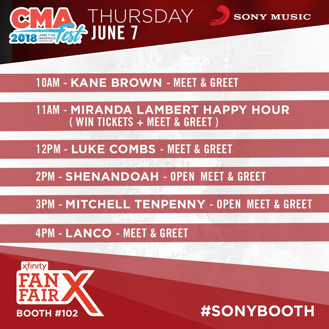 Sony music nashville on twitter cmafest week is here and we are whos coming out bacsarahcannon countrymusicpicitterzpbwa4pmkz m4hsunfo