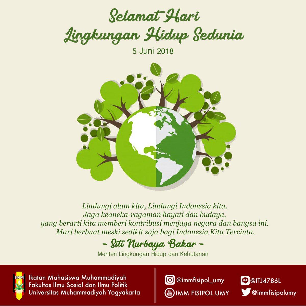 Imm Fisipol Umy On Twitter Selamat Hari Lingkungan Hidup Sedunia