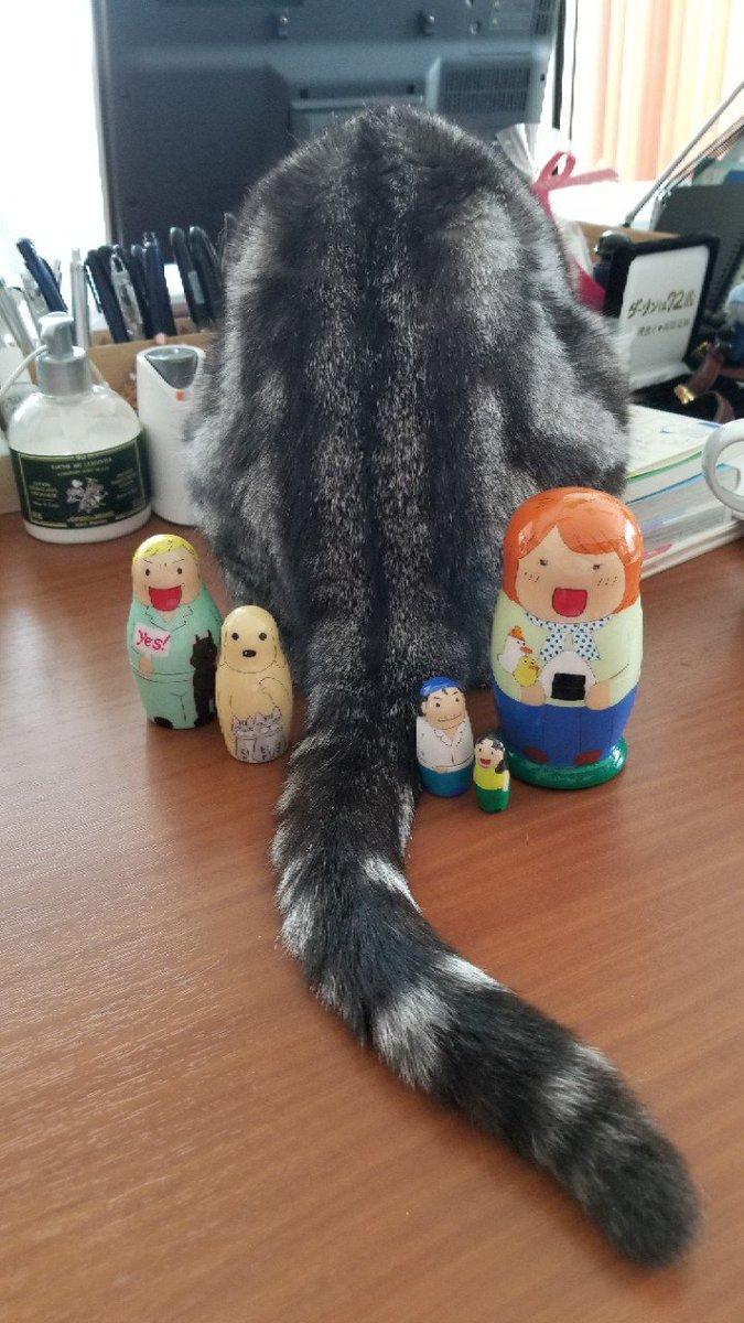 まんずまんずさんから可愛い手作りマトリョーシカ頂きました❗仕事場に飾ります。ありがとうございまふ。