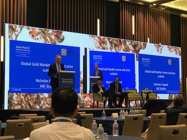 ABCs General Manager Nicholas Frappell Speaks At The Asia Pacific Precious Metals Conference In Singapore Discussing Global Gold Market Review For
