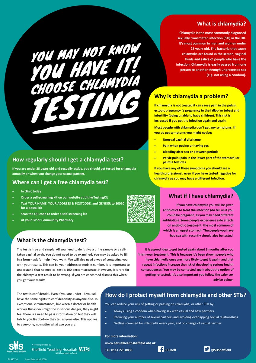 Sexualhealthsheff on twitter chlamydia and gonorrhoea easy to easy to treat test regularly to look after yourself and your sexual partners httpsexualhealthsheffieldnhs sexualhealth solutioingenieria Choice Image