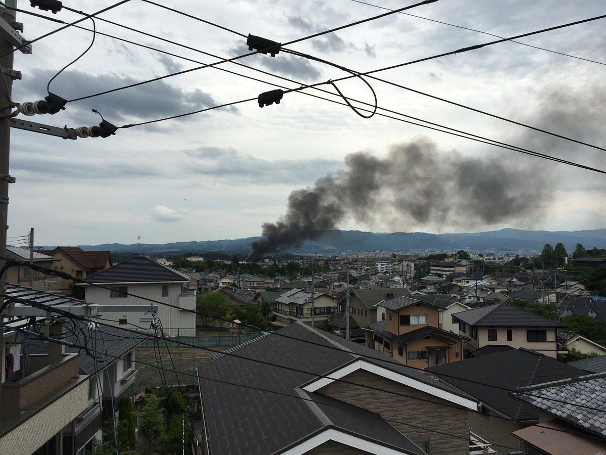 奈良市西大寺北町で火事の現場の画像