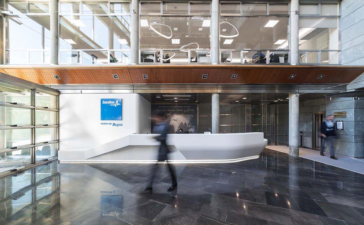 Krion porcelanosa solid surface krion design twitter - Sanitas oficinas centrales ...