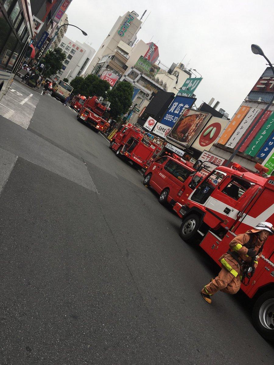 吉祥寺駅前のハーモニカ横丁で火事の現場画像