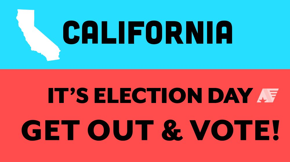 California! Make sure your voice is heard. Get out & vote ➡️ 🗳 #CApol #CAprimary