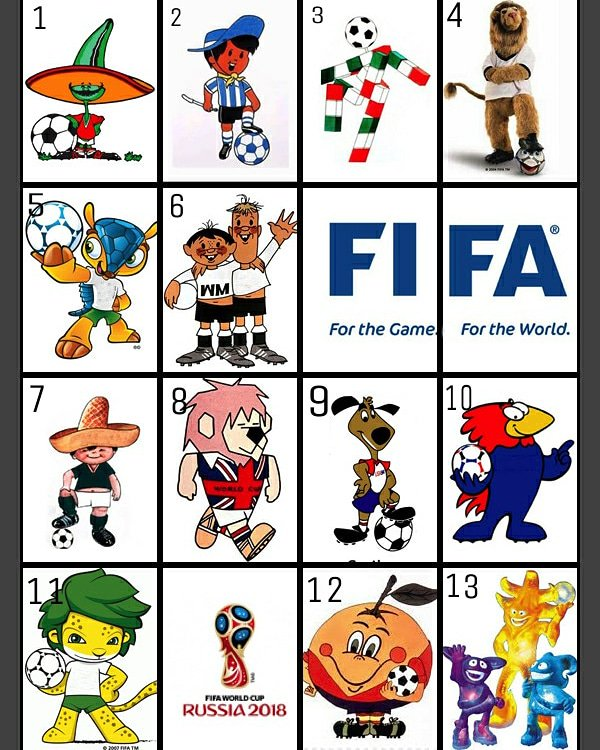 Karan Ambardar On Twitter Quiz Time Guess The Name And The Year These Famous Mascots Were Used By Fifa For The World Cups Hint The First Time A Mascot Was Used Was In