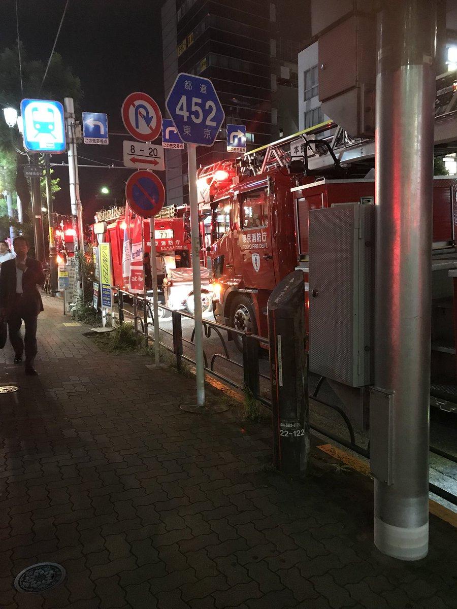 発煙が発生している東京メトロ千代田線・湯島駅の写真画像