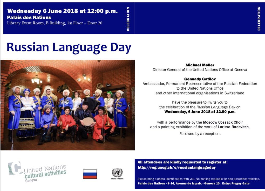 Official UN languages. Will the Russian 93