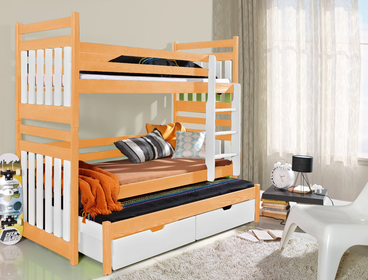 Picture of: Wardrobe Bunk Bed Sofa Furniture On Twitter Triple Bunk Bed Sambor With Trundle Bed And 2 Drawers All Made Of Wood Fast Delivery Click Https T Co Q2pxqicddf Bunkbed Kids Children Home Childrensroom Kidsroom Newhouse