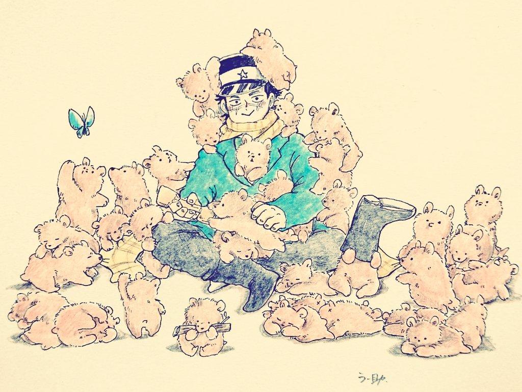 #いいねの数だけ何かが起こる いいねの数だけ杉元にこぐまが寄ってくる 35匹のこぐまちゃんありがとうございました🙌✨(35匹いるはず…!!)