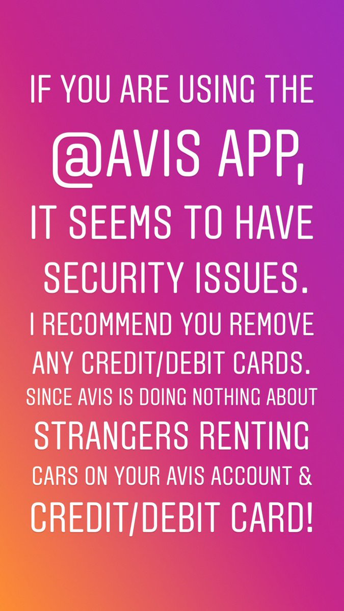 i recommend you remove any creditdebit cards since avis is doing nothing about strangers renting cars on your avis account creditdebit - Rental Car Places That Accept Debit Cards