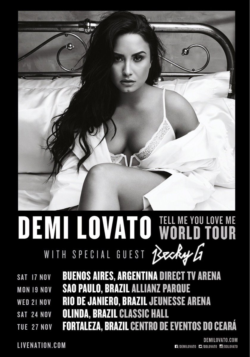 So excited to announce that @iambeckyg is supporting the #TellMeYouLoveMeTour in Argentina and Brazil!❤️ 🇧🇷