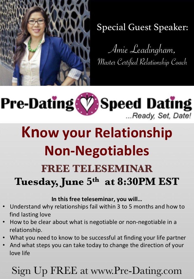 pre dating speed dating vis in de oceaan dating website