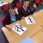Cherry blossom painting in Year 3