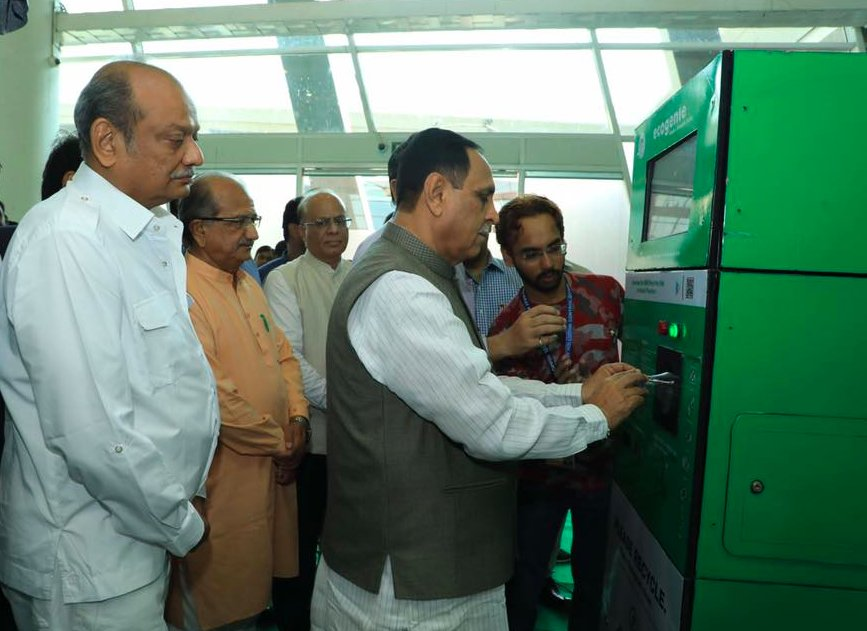 Gujarat govt to install Reverse Vending Machines to recycle PET; payment per  waste pet bottle hiked from 30 paise to one Rupee