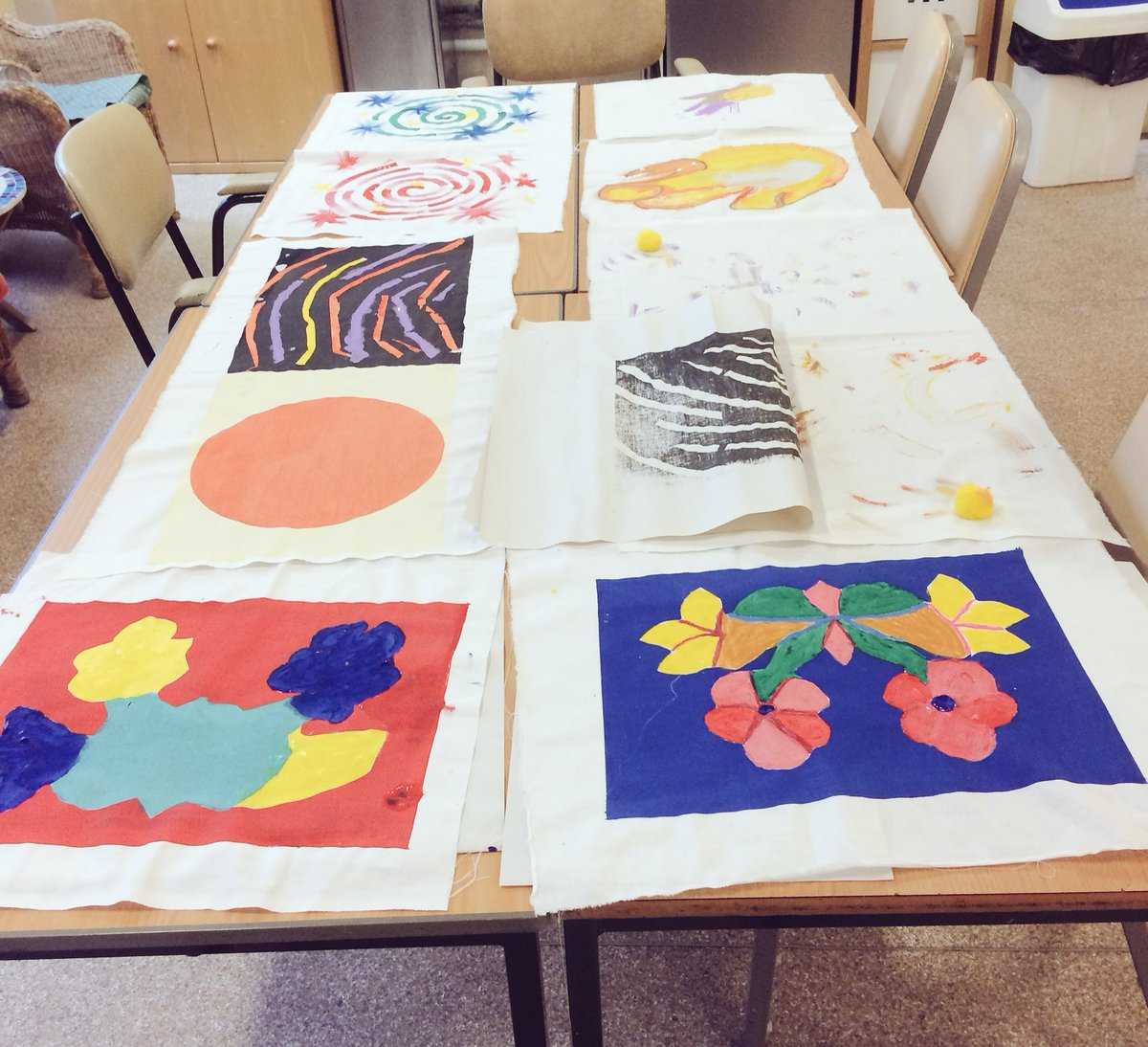 A riot of colours, styles and stories made these (soon to be) tote bags & cushion covers! What a joyful sight. Happy #creativityandwellbeingweek to everyone from all of us here at @BenUriGallery!