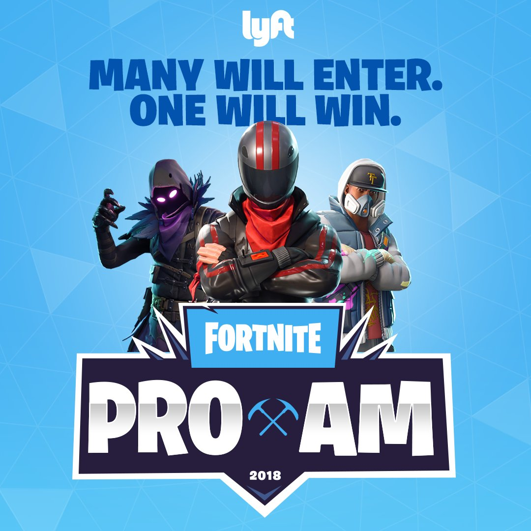 entry with guest to e3 and the fortnite pro am sweepstakes rules https blog lyft com fortnite pro am sweepstakes pic twitter com xjn09oml4z - pro am rules fortnite