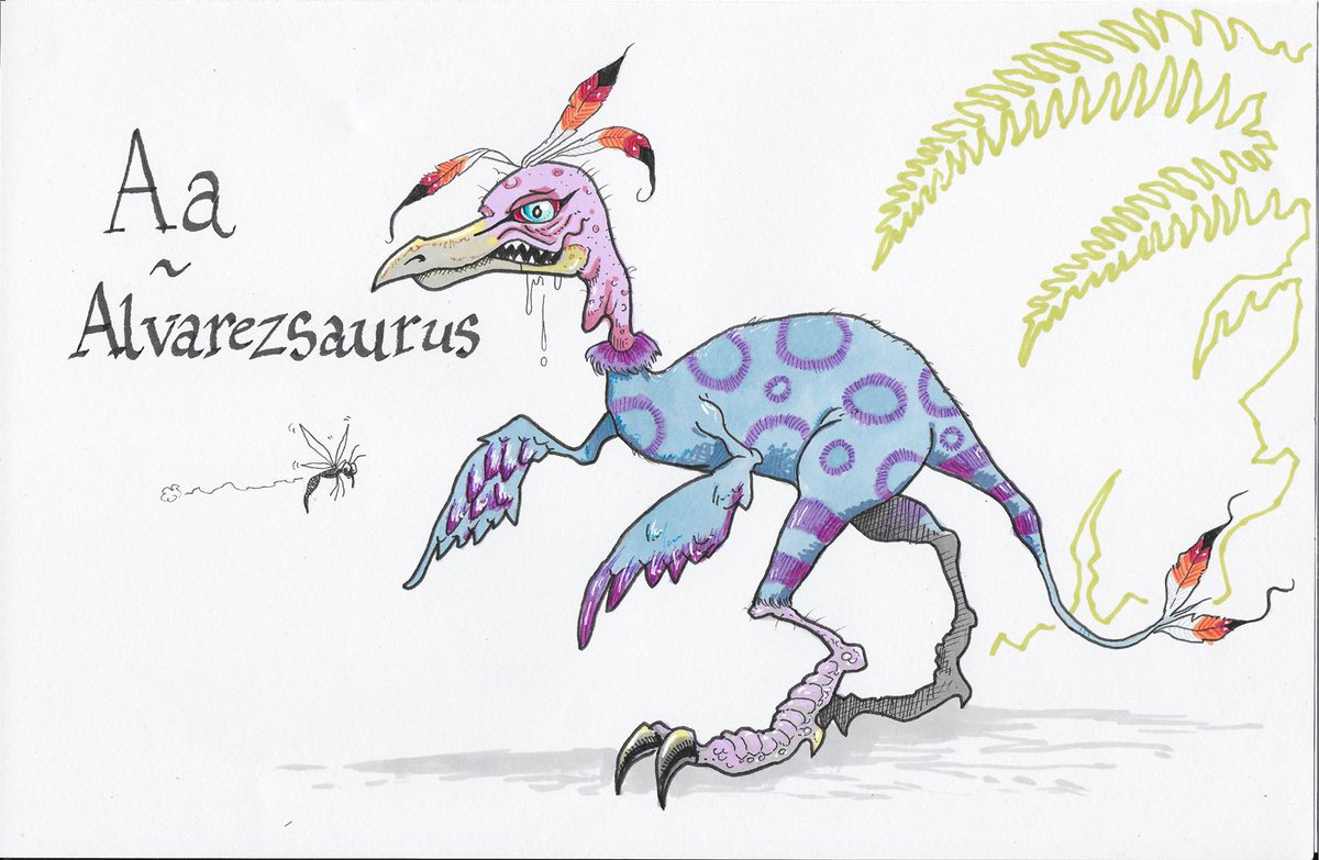 Image of: Skeleton Drawing On The Theme Of Extinct Animals Is For Alvarezsaurus This One Is Part Vulture Part Cassowary Part Skeksis alvarezsaurus extinct Juancomco Dembonesart On Twitter