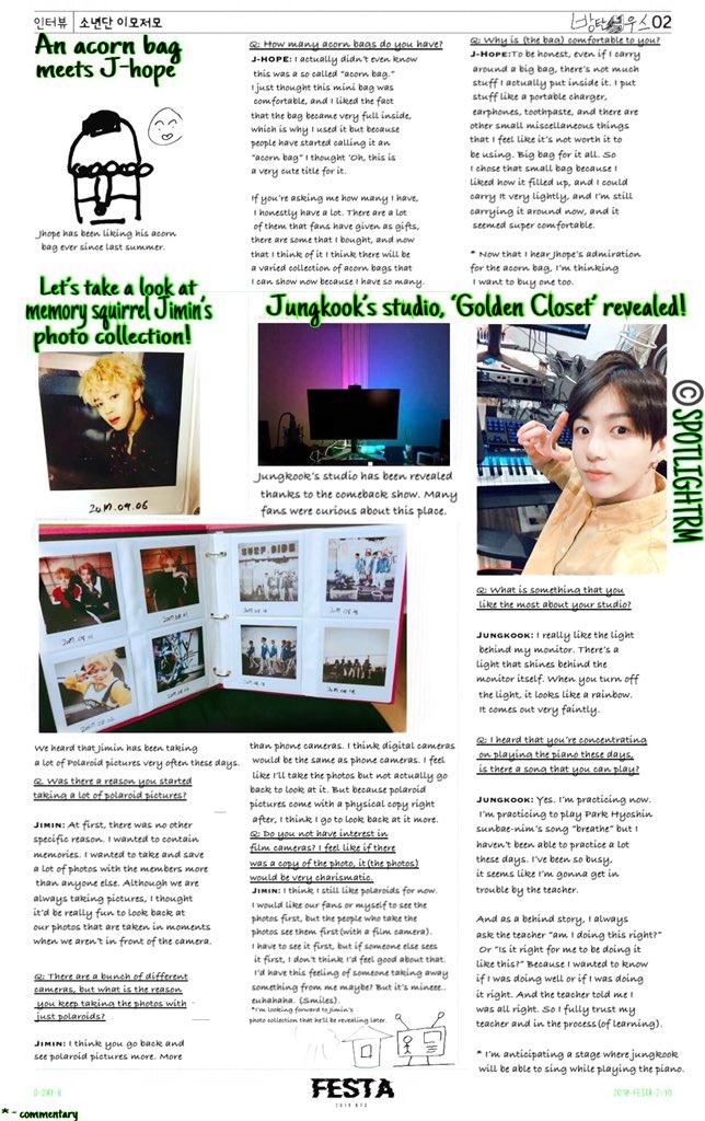 [Trans] #2018BTSFESTA BTS NEWS (paper vol.1) (2) @BTS_twt  Trans: YJ https://t.co/cwzUumbxSu