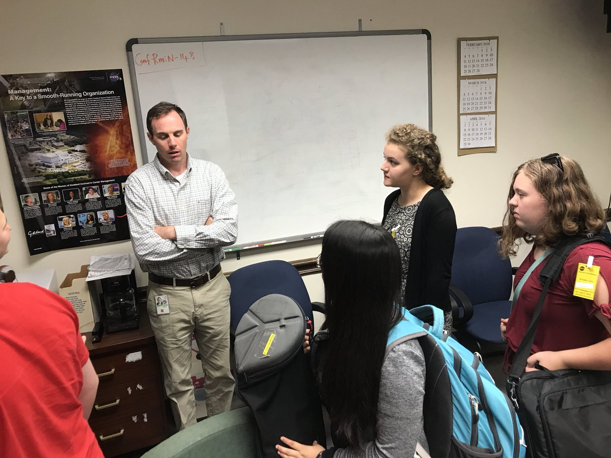 Tv Production Students Meeting With Professional Producers At NASAGoddard
