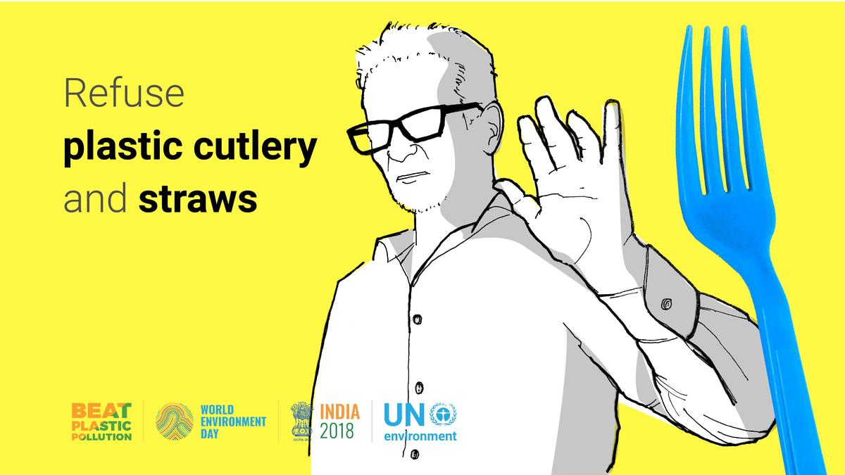 Refuse plastic 🍴 Use refillable 💧bottles Bring your own 🛒 bags 💡 More tips on how to #BeatPlasticPollution from @UNEnvironment on Tuesdays #WorldEnvironmentDay: worldenvironmentday.global