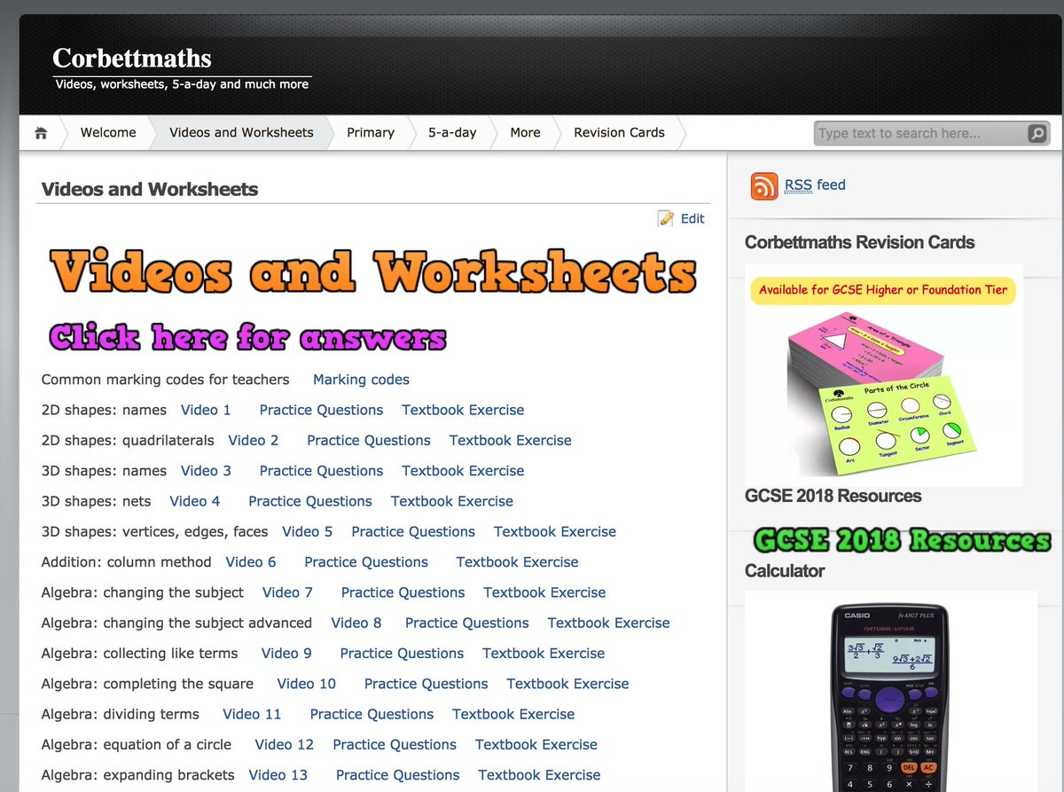 Corbettmaths On Twitter Revising For Your Gcse Maths Exams Find