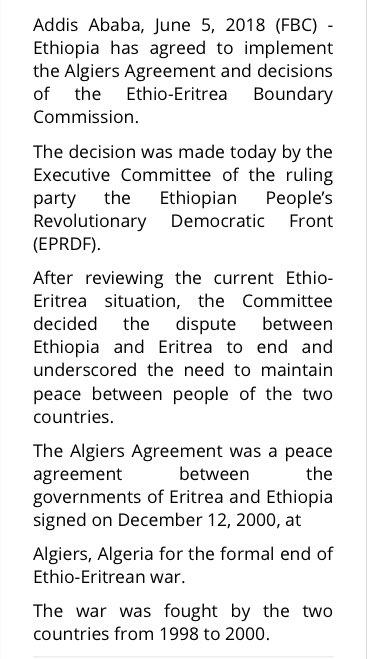 Samira Sawlani On Twitter This From Ethiopian State Media Report