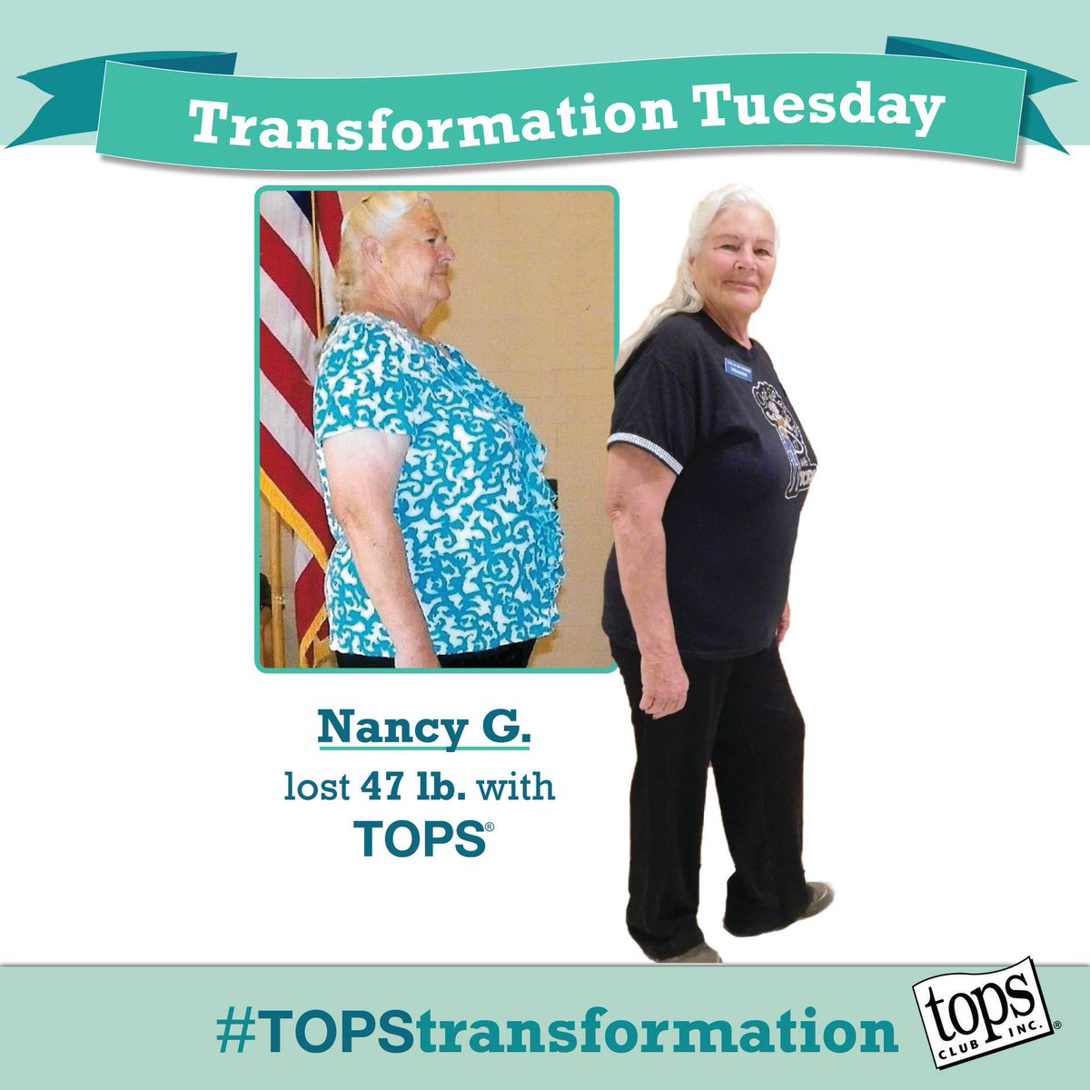 Tops Club On Twitter The Difference Is Real Nancy Lost Nearly 50 Pounds With Tops For More Information About Our Weightloss Support Check Out Https T Co U2s3omzry2 Transformationtuesday Https T Co Xy8ghaxun0