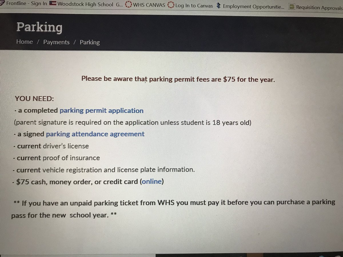 Incredible Woodstock Hs On Twitter Reminder Parking Passes For Sy 18 Download Free Architecture Designs Scobabritishbridgeorg