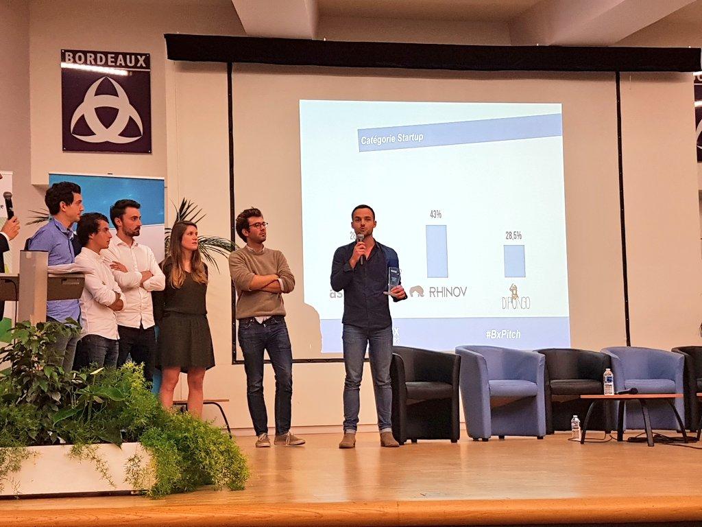 Félicitations à la startup @Rhinov_ qui remporte l'édition 2018 du #BxPitch Contest de @Bdx_E 🔝 https://t.co/db6Wg3L2I4