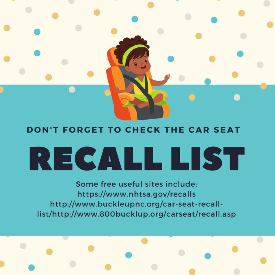 Just Today CHP Ventura Was Installing A Car Seat Grace My Ride 65 And Found Major Recall Issued Safekids NHTSAgovpictwitter ZtBysGk9g0