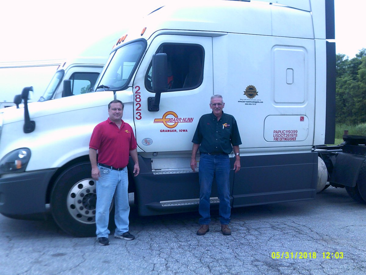 barr nunn on twitter congratulations to ronald for an outstanding 22 years with barr nunn with over 24 million safe miles and 2 elite fleet safety