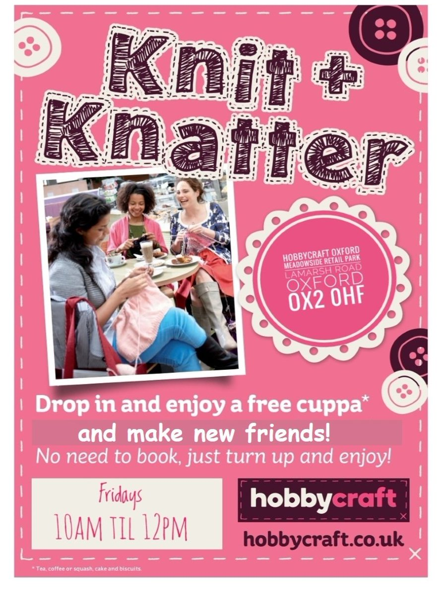 Hobbycraft Oxford On Twitter Are You A Knitter Need Somewhere