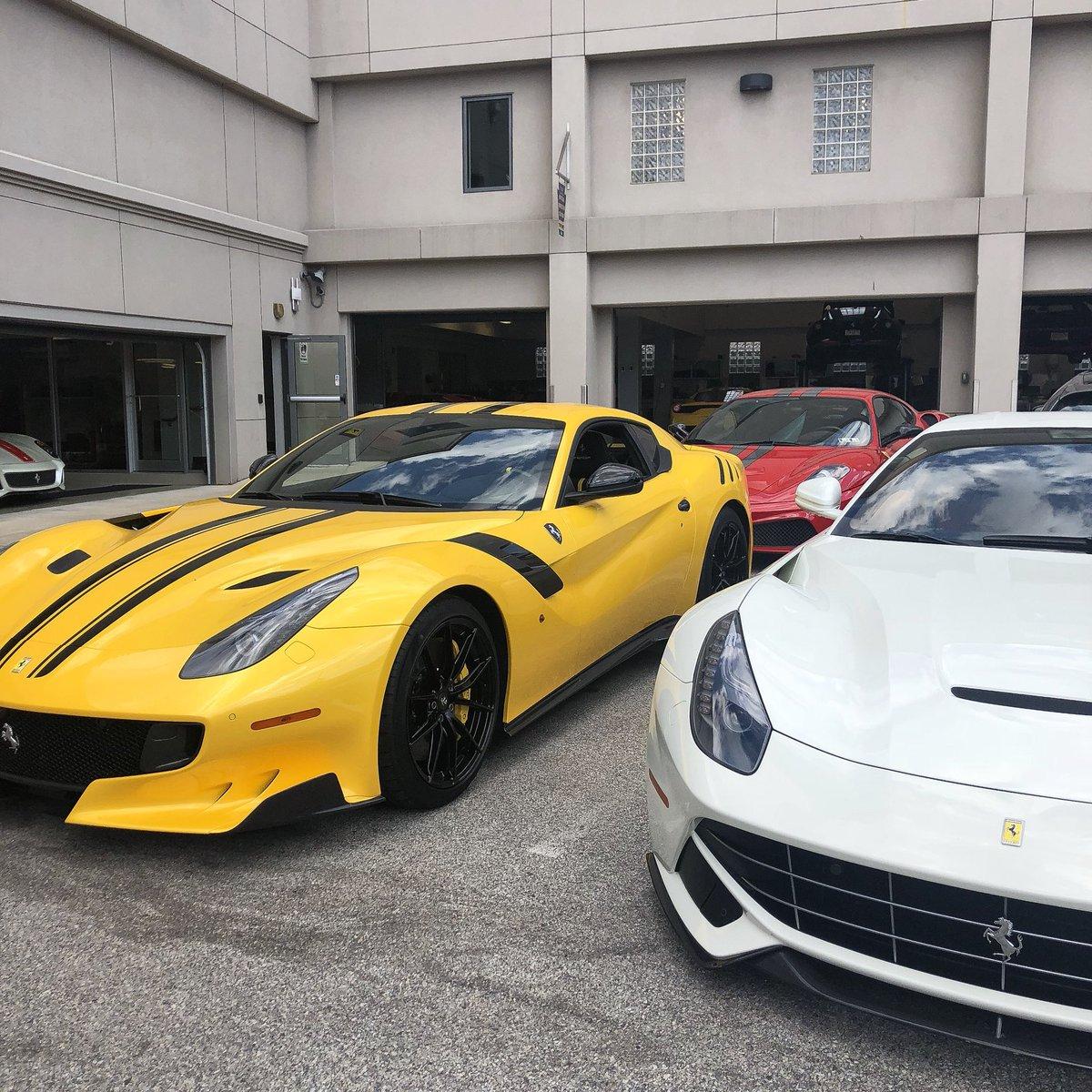 Algar Ferrari Of Philadelphia On Twitter There S A Lot Of Horsepower In Our Service Dept Today F12 F12tdf 599gto 430scuderia Algarferrari