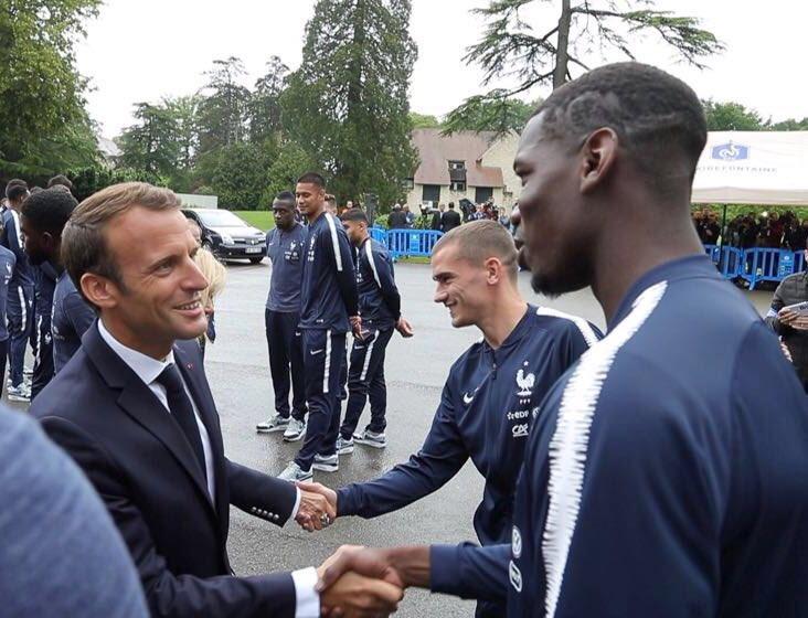 Monsieur Le Président, merci pour vos encouragements. Nous sommes fiers d'être Français #fiersdetrebleus 🇫🇷 #WorldCup2018