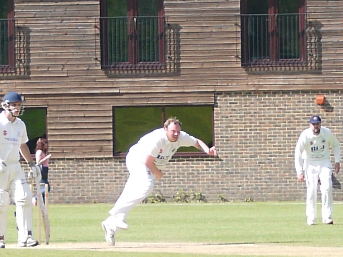 Big Tully in action Saturday. @andrew_mamoany has been on fire so far this season with 13 wickets already to his name with a strike rate of 13 ! #slade #allaboard