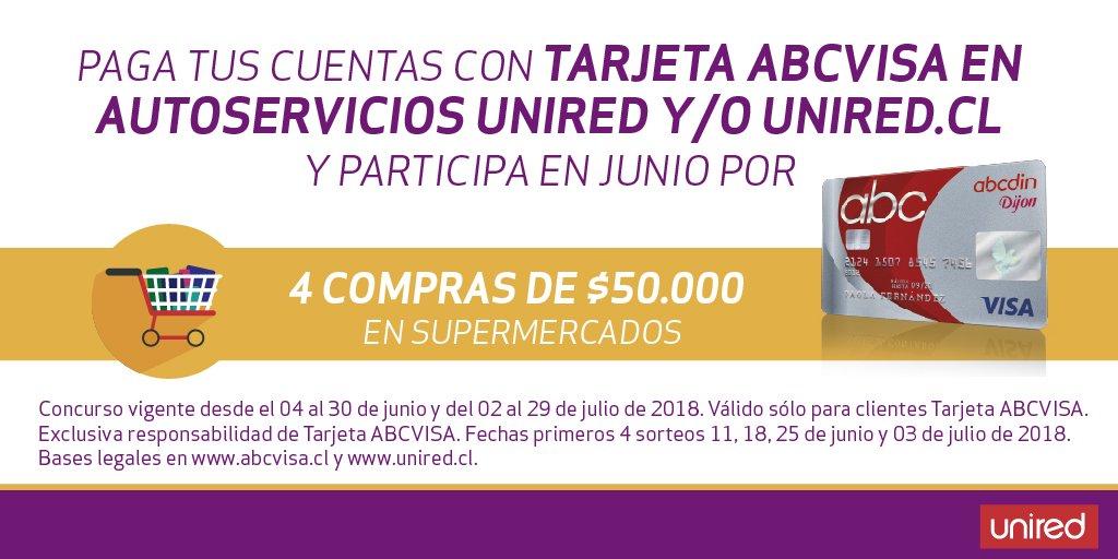 ⚡️#CONCURSO ⚡️ 🤩 Participa por compras de $50.000 en supermercado  🙂👍🛒#unired #abcvisa #premios @abecedin https://t.co/df9FxO4TKd